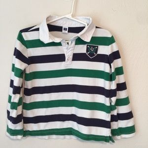 Janie & Jack Striped Rugby Shirt